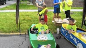 Super racers Noah Beigel, left, and Michael Scurlock are excited to participate in the Northwest Indiana Soap Box Derby. (VFW Post, Handout)