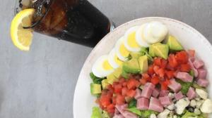 Enjoy fresh romaine lettuce chopped bacon, blue cheese, diced tomatoes, avocado, hard boiled egg, chicken and ham with your choice dressing at Abby's Breakfast and Lunch, a new restaurant, in downtown St. Charles. (Beth Casey / Beacon-News)
