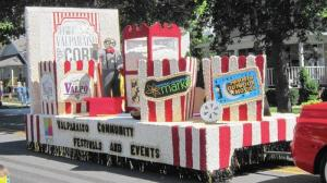 At the Valparaiso Popcorn Festival, many of the floats in the parade are made out of popcorn. (Valparaiso Popcorn Festival / Handout)